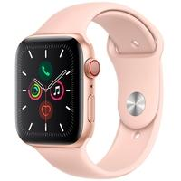 Apple Watch Series 5, GPS, 44mm, Dourado, Pulseira Areia Rosa - MWWD2BZ/A