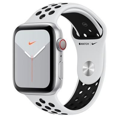 Apple Watch Nike Series 5, GPS, 40mm, Prata, Pulseira Preta - MX3C2BZ/A
