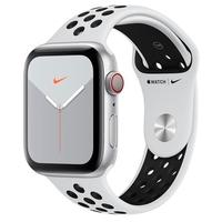 Apple Watch Nike Series 5, GPS, 40mm, Prata, Pulseira Preta - MX3C2BZ/A
