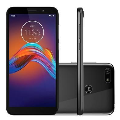 Smartphone Motorola Moto E6 Play, 32GB, 13MP, Tela 5.5´, Cinza Metálico + Capa Protetora - PAHC0001BR