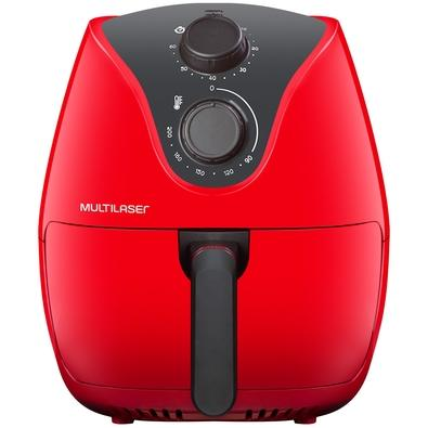 Fritadeira Elétrica Sem Óleo Multilaser Air Fryer, 4 Litros, 110V, Vermelha - CE083