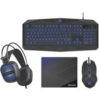 Kit Gamer Hoopson TPC-050B 4x1 - Teclado + Mouse + Mousepad + Headset - TPC-050B