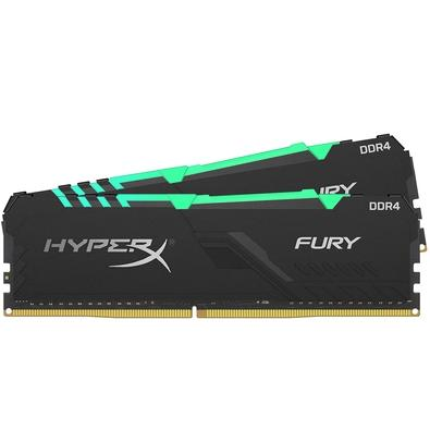 Memória HyperX Fury RGB, 32GB (2x16GB), 3733MHz, DDR4, CL19, Preto - HX437C19FB3AK2/32