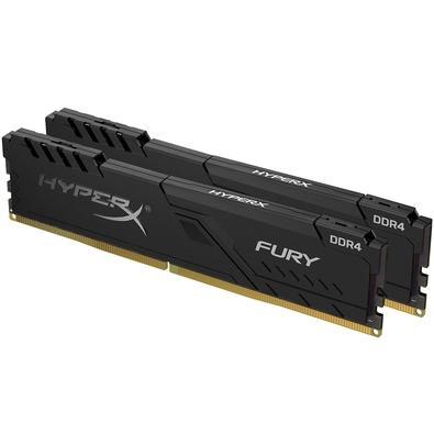 Memória HyperX Fury, 16GB (2x8GB), 3733MHz, DDR4, CL19, Preto - HX437C19FB3K2/16