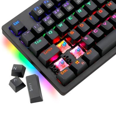 Teclado Mecânico Gamer T-Dagger Bermuda, LED Azul, Switch Outemu MK2 Blue, ABNT2 - T-TGK312-BLUE