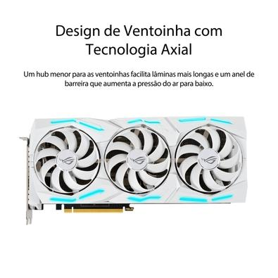 Placa de Vídeo Asus Rog Strix NVIDIA GeForce RTX 2080 Super White Edition, 8GB, GDDR6 - ROG-STRIX-RTX2080S-O8G-WHITE-GAMING