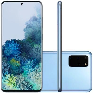 Smartphone Samsung Galaxy S20+, 128GB, 64MP, Tela 6.7´, Cloud Blue + Capa Protetora - SM-G985FLBJZTO