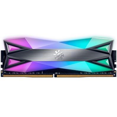 Memória XPG Spectrix D60G, RGB, 8GB, 3600MHz, DDR4, CL18, Cinza - AX4U360038G18A-ST60