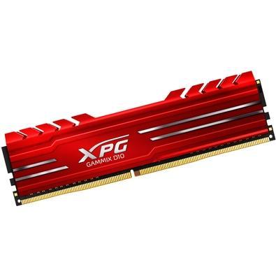Memória XPG Gammix D10, 8GB, 3000MHz, DDR4, CL16, Vermelho - AX4U300038G16-SRG
