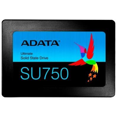 SSD Adata SU750, 256GB, SATA, Leituras: 550Mb/s e Gravações: 520Mb/s - ASU750SS-256GT-C