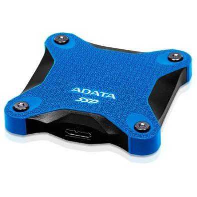 SSD Externo Adata SD600Q, 480GB, USB 3.2, Azul - ASD600Q-480GU31-CBL