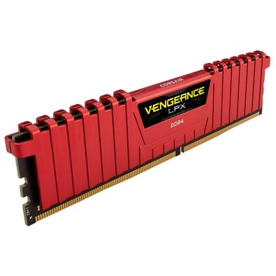 Memória Corsair Vengeance LPX 16GB (2x8GB) 3000Mhz DDR4 C15 Red - CMK16GX4M2B3000C15R