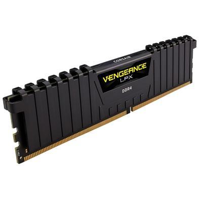 Memória Corsair Vengeance LPX 32GB (4x8GB) 2400Mhz DDR4 C14 Black - CMK32GX4M4A2400C14