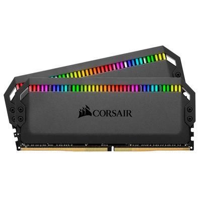 Memória Corsair Dominator RGB 32GB (2x16GB) 3466MHz  DDR4  C16 Black - CMT32GX4M2C3466C16