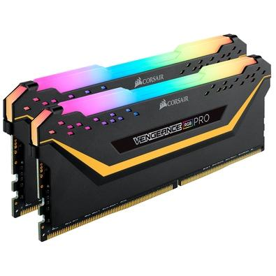 Memória Corsair Vengeance RGB Pro 16GB (2x8GB) 3000MHz DDR4 C15 TUF Black - CMW16GX4M2C3000C15-TUF