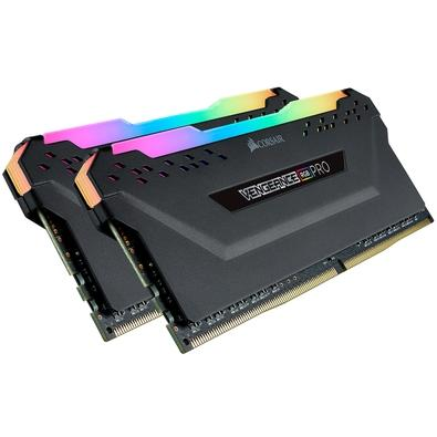 Memória Corsair Vengeance RGB Pro 32GB (2x16GB) 2666MHz DDR4 C16 Black - CMW32GX4M2A2666C16