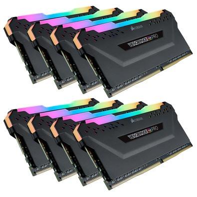 Memória Corsair Vengeance RGB Pro 32GB (4x8GB) 3200MHz DDR4 C14 Black - CMW32GX4M4C3200C14