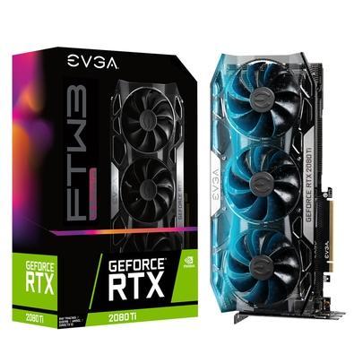 Placa de Vídeo EVGA NVIDIA GeForce RTX 2080 TI FTW3 Ultra Overclocked 65C Gaming, 11GB, GDDR6 - 11G-P4-2487-KR