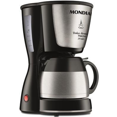 Cafeteira Elétrica Mondial Dolce Arome Thermo, 24 Xícaras, Jarra Térmica, 800W, 220V, Inox - C-33JT-24X