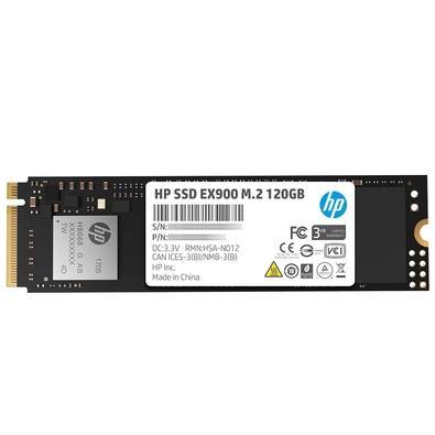 SSD HP EX900, 120GB, M.2, PCIe, NVMe, Leituras: 1900Mb/s e Gravações: 650Mb/s - 2YY42AA#ABL