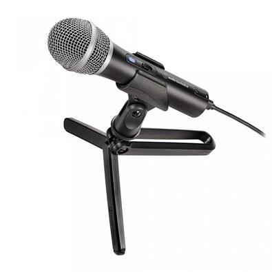 Microfone Audio-Technica Cardioide Dinâmico XLR, USB - ATR2100X-USB
