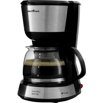 Cafeteira Elétrica Britânia Plus BCF18I, 18 Xícaras, 550W, 220V, Preto/Inox - 63902100