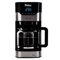 Cafeteira Elétrica Philco PCF38 Platinum, 38 Xícaras, 800W, 110V, Preto/Prata - 53901041