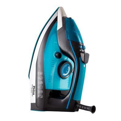 Ferro de Passar a Vapor Philco PFV3100AZ Nano Ceramic, 1680W, 110V, Preto/Azul - 53601039