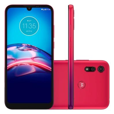 Smartphone Motorola Moto E6S, 32GB, 13MP, Tela 6.1, Vermelho + Capa Protetora - XT2053