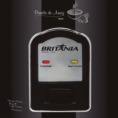 Panela de Arroz Elétrica Britânia PA4X, 5 Xícaras, 110V, Preta - 66401087