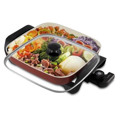 Panela Elétrica Britânia Super Chef Ceramic BPE05V, 110V, Vermelha - 66401133