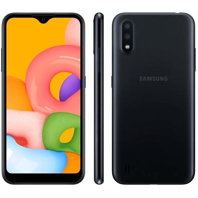 Smartphone Samsung Galaxy A01, 32GB, 13MP, Tela 5.7´, Preto - SM-A015MZKSZTO
