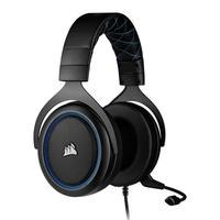 Headset Gamer Corsair HS50 PRO P2, Stereo 2.0, Drivers 50mm, Preto/Azul - CA-9011217-NA