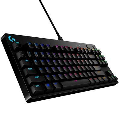 Teclado Mecânico Gamer Logitech G PRO X, RGB, Design Tenkeyless, Switch GX Clicky Azul, US - 920-009229