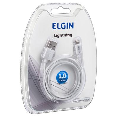 Cabo USB x Lightning para Apple Elgin, 1m, Branco - 46RCAPPLEBDS