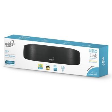 Antena Interna ELG Link, 4K, HDR, HDTV, UHF, VHF - HDTV4500BK