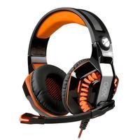 Headset Gamer OEX Game Beast, LED, Virtual Surround 7.1, Preto/Laranja - HS404