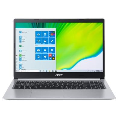 Notebook Acer Aspire 5 Intel Core i5-10210U, 8GB, SSD 256GB, NVIDIA MX250 2GB, Windows 10 Home, 15.6´, Prata - A515-54G-53GP