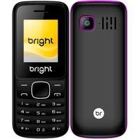 Celular Bright, Tela 1.77´, Câmera, Lanterna, Bluetooth, Rádio FM, Dual Chip, Preto/Roxo - 0417