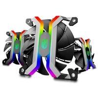 Kit 3 Cooler FAN DeepCool MF 120S, 360mm, RGB + Controlador - DPGS-FMF120S-M-3P