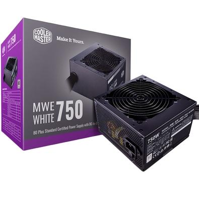 Fonte Cooler Master MWE 750 White V2, 750W, 80 Plus Standard - MPE-7501-ACAAW