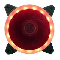 Cooler FAN Bluecase Ring, 120mm, LED Vermelho - BFR05RXCASE