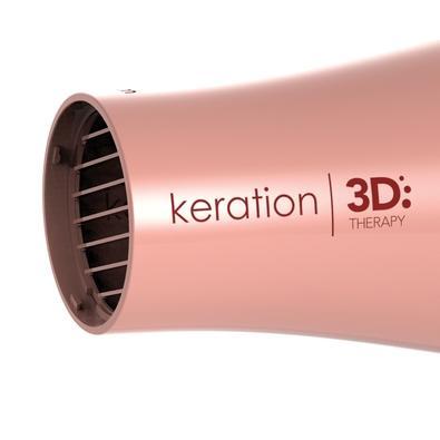 Secador de Cabelos Gama Keration 3D Pro, 2 Velocidades, 3 Temperaturas, 2200W, 110V, Rose - BECHD0000002050