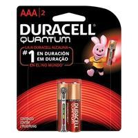 Pilha Alcalina Duracell Quantum, AAA Palito, com 2 Unidades - 7003
