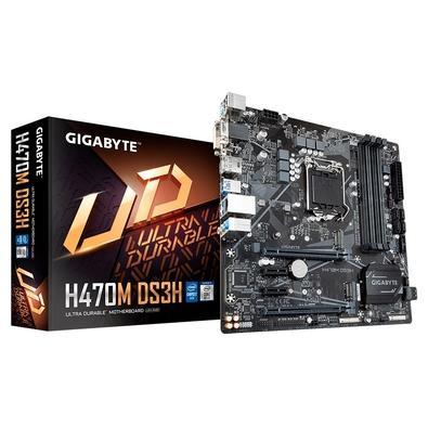 Placa-Mãe Gigabyte H470M DS3H, Intel LGA1200, Micro ATX, DDR4