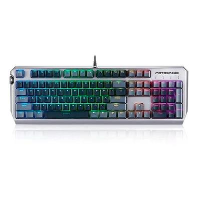 Teclado Óptico Mecânico Gamer Motospeed CK80, RGB, Switch Zeus Optical, ANSI - FMSTC0076CIZ