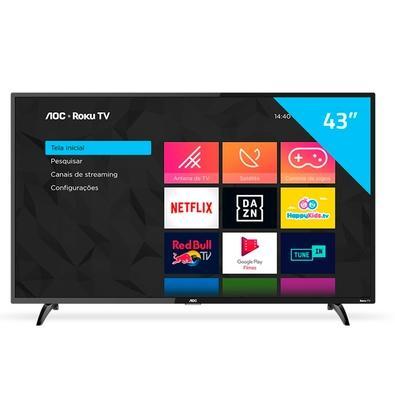 Smart TV LED AOC 43´ Full HD, 3 HDMI, 1 USB, Wi-Fi - 43S5195/78G