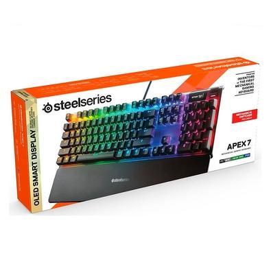 Teclado Mecânico Gamer Steelseries Apex 7, RGB, Switch Red, US - 64636