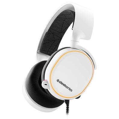 Headset Gamer Steelseries Arctis 5, RGB, 7.1 Som Surround, Drivers 40mm, Branco - 61507
