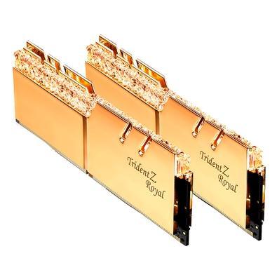 Memória G.Skill Trident Z Royal, 16GB (2x8GB), 3000MHz, DDR4, CL16, Dourado - F4-3000C16D-16GTRG